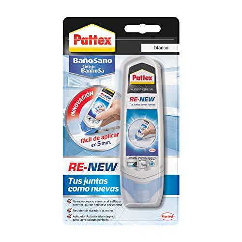 Pattex Healthy Bath RE-NEW, silicona blanca para cocina y baño, ...