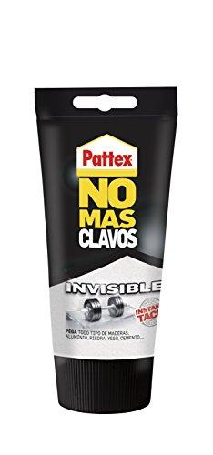 Pattex No More Nails Invisible, resistente al pegamento transparente ...