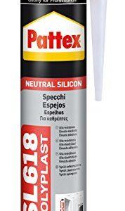 Pattex SL 618, silicona neutra para espejos y sellado en gen ...