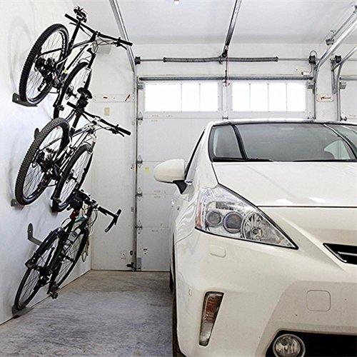 Pergrate Set de 3 soportes de pared para bicicleta