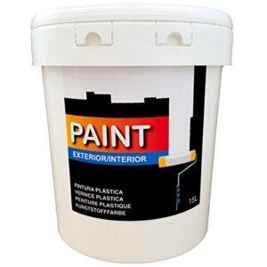 Pintura plástica blanca lavable para Interior y Exterior de ...