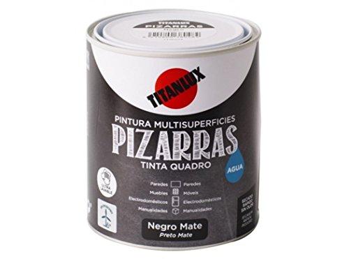 Pizarra Titanlux pintura en agua negra 750 ml.