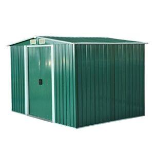 Placa verde cobertizo metálico exterior 246x192.5x177.5cm