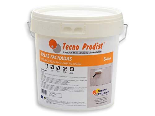 RELÉS DE FACHADA de Tecno Prodist - 5 Kg (BLANCO) Pintura acrílica ...