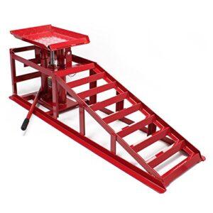 Rampa acceso gato elevador hidráulico 2000 kg altura regulable ...