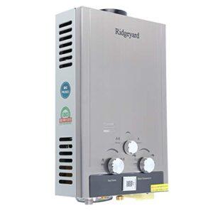 Ridgeyard 8L 2 GPM Calentador de agua de gas natural instantáneo ...