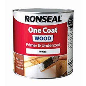 Ronseal rslocwpu25l One Coat imprimación y capa de madera, ...