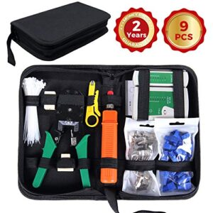 SGILE Network Cable Tester RJ45 Network Tool Kits Red ...