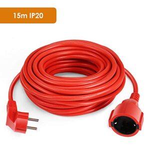 SIMBR Cable de extensión de alimentación IP20 H05VV Cable de extensión ...