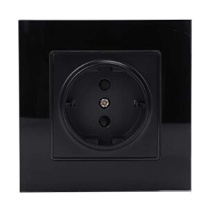 SODIAL Black Standard EU Power Plug, Panel ...