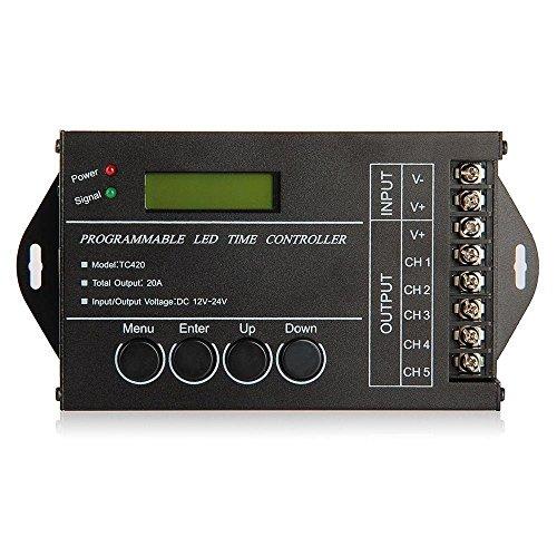 SODIAL (R) 20A temporizador programable DC12-24V controlador ...