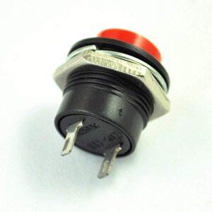 SODIAL (R) 5 x Interruptor de botón momentáneo SPST Rojo ...