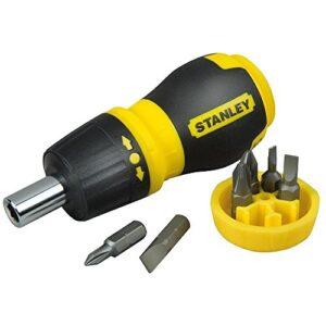 STANLEY 0-66-358 - Destornillador con trinquete y 6 puntas