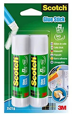 Scotch 6242C - 21 g de barra adhesiva, transparente, paquete de ...