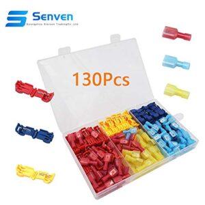 Senven® 130Pcs T-Tap Terminal Cable, T-Tap Quick Splice Ki ...