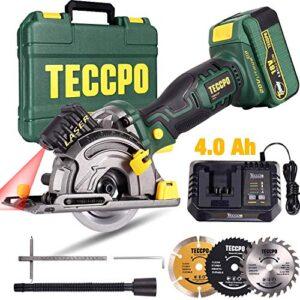 Sierra circular, mini sierra circular TECCPO 18V, batería 4A ...