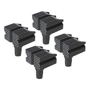 Silverline Bancos 548885, negros, 4 piezas, juego de 4 piezas ...