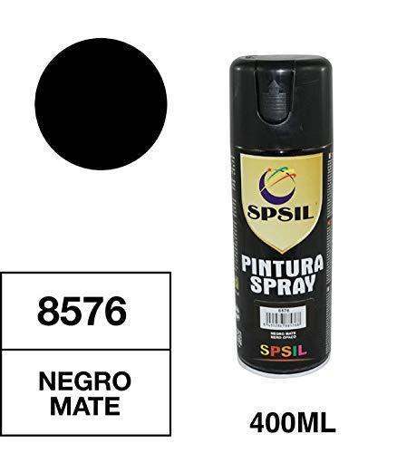 Spsil 8576 Pintura Aerosol Negra Mate 400 Ml