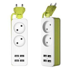 Sulida Power Strip Plug con 4 puertos de carga USB con tecnología ...
