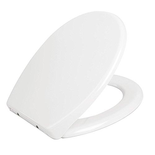 Tapa de inodoro y asiento universal HOMFA Cierre suave y cierre bajo ...