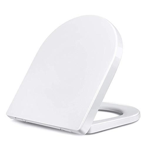 Tapa y asiento del inodoro Amzdeal Cierre universal de la tapa del inodoro ...