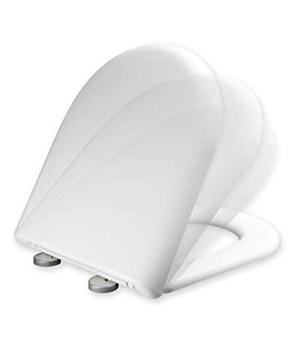 Tapa y asiento del inodoro con caída amortiguada compatible con ...