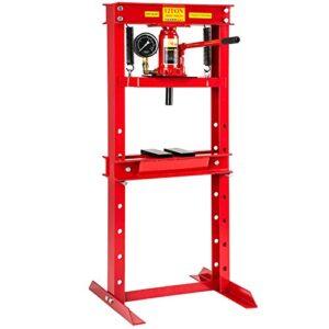 TecTake prensa hidráulica taller fuerza de presión mandri ...