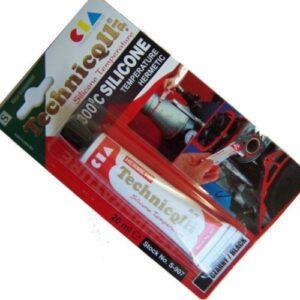 Technicqll Mastic adhésif silicona alta temperatura Noir 20 ...