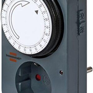 Temporizador Brennenstuhl 1506450, 3500 W, plateado, 1 unidad