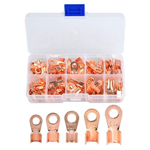 Terminales de anillo QLOUNI 70 piezas - Terminales de cobre abiertos ...