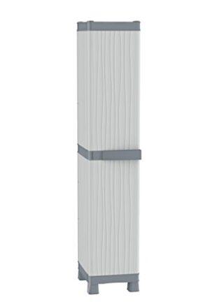 Terry - Armario de plástico para exteriores, 35 x 43.8 x 181.8 cm