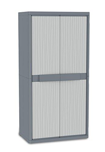 Terry - Gabinete exterior de plástico, 89.7 x 53.7 x 180 cm