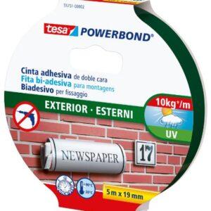 Tesa TE55751-00002-03 Powerbond Exterior 5m x 19mm mancha, ...