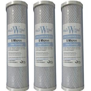 "The Water Filter Men 3 x Cartridge Carbon Block 10 ""x 2.5 ..."