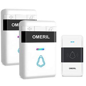 Timbre inalámbrico, OMERIL 7 LED Timbres inalámbricos para exteriores ...