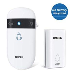 Timbre inalámbrico sin baterías, timbres inalámbricos OMERIL Ex ...