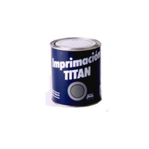Titan 060304334 Botella de pintura de imprimación, gris, 750 ml