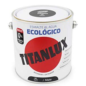 Titanlux - Esmalte ecológico, negro mate, 2,5L (ref. 02T056725)