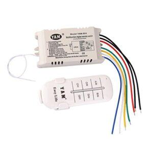 UEETEK AC 200-240V Interruptor OFFON de 4 vías con control remoto ...