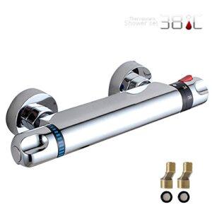 Válvula mezcladora de barra de ducha de baño con grifo termostático JTWEB ...