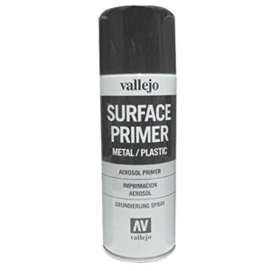 Vallejo 28012. Spray Pintura Imprimacion Negra de grano extr ...