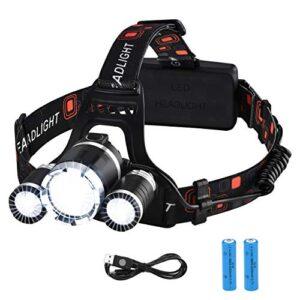 VicTsing recargable LED faro alta potencia 6000 ...