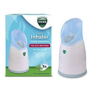 Vicks inhalador de vapor personal con dos almohadillas aromáticas incluidas