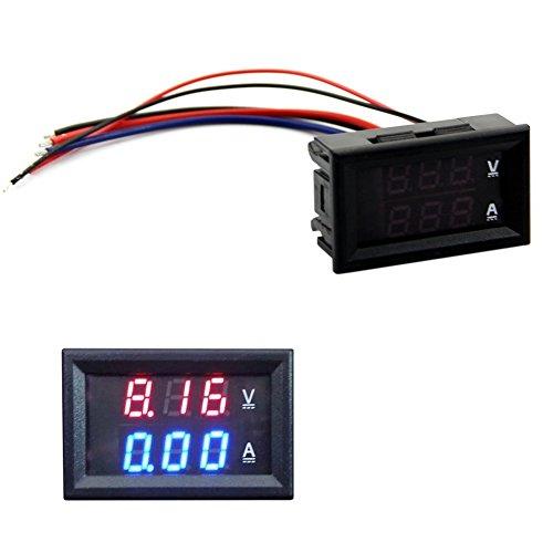 Voltímetro Amperímetro HeroNeo®, DC 100 V, 10 A, medidor digital ...