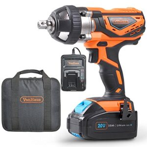 VonHaus Impact Wrench max. 20 V with Square Conductor ...