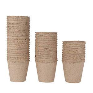 WARKHOME 48 unidades Ollas de fibra biodegradable, turba ...