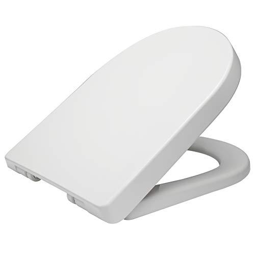 WOLTU Asiento de inodoro de plástico, tapa de inodoro y asiento para ...