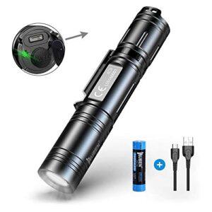 WUBEN Linterna LED de alta potencia, USB recargable 1200 LM Sup ...