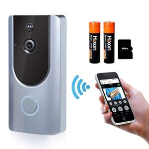 WiFi Video Doorbell Timbre inalámbrico Video 166 ° HD Inteligen ...