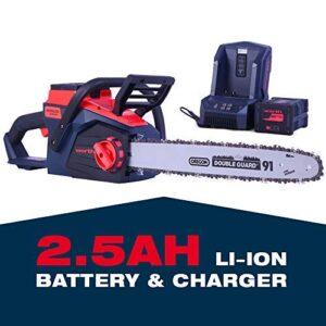 Worth Garden 18 Power MAX 84V cadena de motor sin escobillas de litio ...